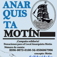 [Espanha] Campanha solidária: Doações para o Local Anarquista Motín