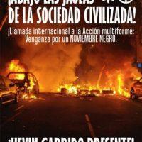 [Chile] Chamada internacional: Novembro Negro de ação e vingança pelo camarada Kevin Garrido Fernandez