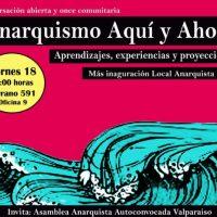[Chile] Valparaíso: Anarquismo aqui e agora | Inauguração de espaço anarquista