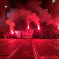 [Alemanha] Ataques contra a polícia em solidariedade a Lina, antifascista que foi presa em Leipzig
