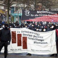 [Alemanha] 800 anarquistas alemães marcham em Hamburgo para exigir acesso universal e gratuito à vacina