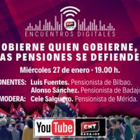 [Espanha] Encontros digitais. Governe quem governe, as pensões se defendem.
