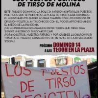 [Espanha] Madrid: Desalojo postos Tirso de Molina