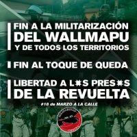 [Chile] Fim a militarização do Wallmapu e de todos os territórios