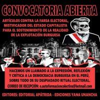 [Peru] Contra a farsa eleitoral