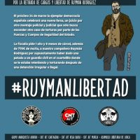 [Espanha] Pela retirada das acusações e a liberação de Ruymán Rodríguez