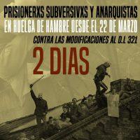 [Chile] Comunicado público de início da greve de fome por parte de companheiros subversivos e anarquistas