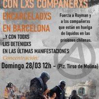 [Espanha] Madrid: Concentração em Tirso de Molina em solidariedade com os anarquistas presos e contra a repressão