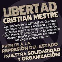 [Espanha] Liberdade para Cristian Mestre