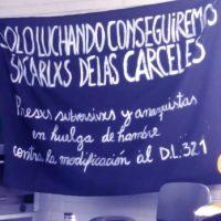 [Chile] Ante a greve de fome, a suspensão de visitas e a restrição de comunicações.