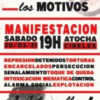 [Espanha] Madrid, 20/03: Chamado anarquista para a manifestação de Atocha a Cibeles
