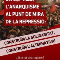 [Espanha] Mais uma vez, o anarquismo na mira da repressão: construímos a solidariedade, construímos a alternativa!