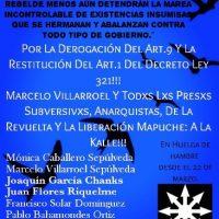 [Chile] A luta continua e a greve de fome também!