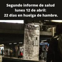 [Chile] Segundo informe de saúde: 22 dias de greve de fome