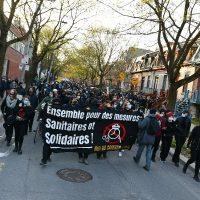 [Canadá] Montreal, Quebec: Relatório do Protesto Contra o Toque de Recolher de 18 de abril