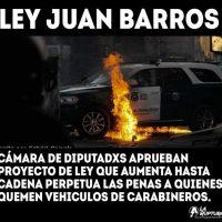 [Chile] Câmara dos deputados aprova lei de prisão perpétua para quem incendiar veículos de carabineros