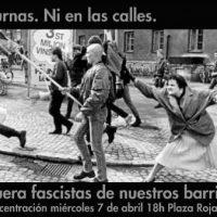 [Espanha] Madrid: Nem uma rua, nem um bairro, nem um respiro ao fascismo. Sobre a próxima visita do VOX a Vallekas