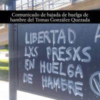[Chile] Comunicado de retirada da greve de fome por Tomas Gonzáles Quezada