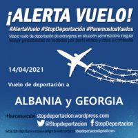 [Espanha] Alerta de voo de deportação para a Albânia e Geórgia