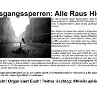 [Alemanha] Toques de recolher: Todos Para Fora!