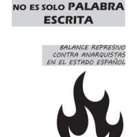 [Espanha] Fanzine | A solidariedade não é só palavra escrita. Balanço repressivo contra anarquistas no estado espanhol