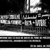 [Chile] Informe dos 15 dias de greve de fome de presxs subversivxs, anarquistas e da revolta