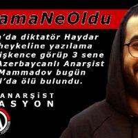 Honra e luta pelo anarquista Bayram Mammadov, encontrado morto em Istambul