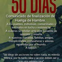 [Chile] Comunicado de fim de greve de fome