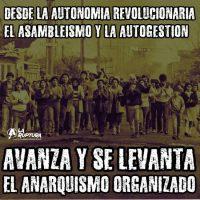 """[Chile] """"Que o anarquismo organizado se levante já em cada território e em cada bairro"""""""