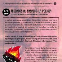 """[Espanha] """"Reconhecer o inimigo: a polícia"""""""