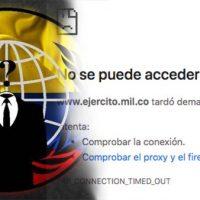 [Colômbia] Anonymous hackeia sites do Exército, do Senado e da Presidência