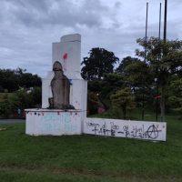 [Colômbia] Derrubaram o busto de Andrés López de Galarza