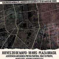 [Chile] Santiago: Bicicletada pela memória do companheiro Mauricio Morales