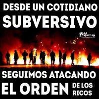 [Chile] Por um cotidiano subversivo, seguimos atacando a ordem dos ricos