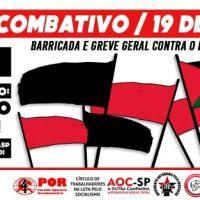 [São Paulo-SP] 19J: Bloco Combativo no Dia Nacional de Luta!
