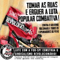 [São Paulo-SP] Tomar as ruas e erguer a luta popular combativa!