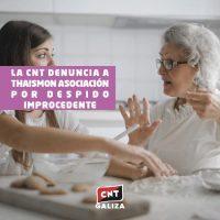 [Espanha] CNT denuncia a Thaismon Association por demissão injusta
