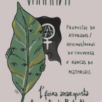 Primeira chamada pra oficina/rodas de conversa e banca de materiais | Feira Anarquista Feminista de Porto Alegre (RS)