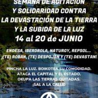[Espanha] Semana de agitação contra a devastação da terra e o aumento da luz