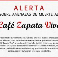 [México] Ameaças de morte dirigidas ao Café Zapata Vive