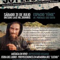 [Chile] Santiago: Atividade em memória do companheiro anarquista Santiago Maldonado