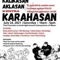 [Filipinas] Vídeo | Evento pacífico e criativo em protesto contra assassinatos e opressão policial