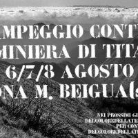 [Itália] Acampamento contra a mina de titânio no Monte Beigua