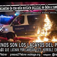 [Espanha] Prisão Brians I: Comunicado dos compas presos na manifestação de 27 de fevereiro