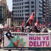 [Espanha] Manifestação em Gijón em apoio aos sindicalistas condenados