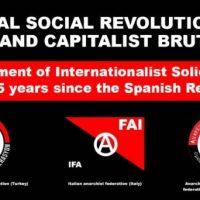 Declaração de Solidariedade Internacionalista pelos 85 Anos da Revolução Espanhola