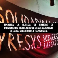 [Chile] Termina a greve de fome dos prisioneiros transferidos da Prisão de Alta Segurança para Rancagua