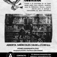 [Chile] Santiago: Abre suas portas a Biblioteca Ateneo, todas as quartas-feiras a partir de 25 agosto
