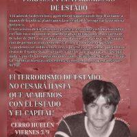 [Chile] Santiago: convocatória à jornada de protesto contra o desaparecimento forçado e o terrorismo de Estado