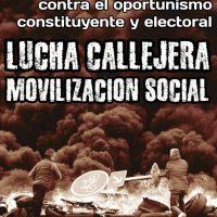 [Chile] Contra o oportunismo eleitoral e constituinte, luta de rua e mobilização social